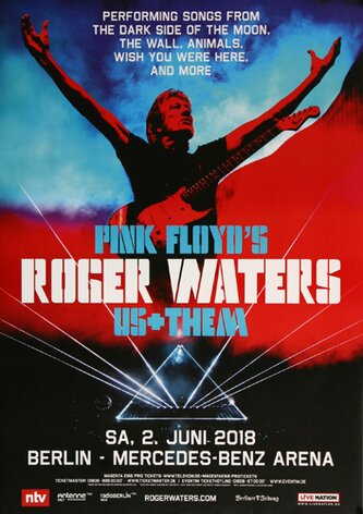 Roger Waters - Performing , Berlin 2018 - Konzertplakat