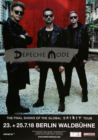 Depeche Mode - The Final Show , Berlin 2018 - Konzertplakat