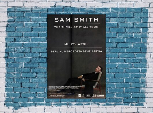 Sam Smith - The Thrill , Berlin 2018 - Konzertplakat