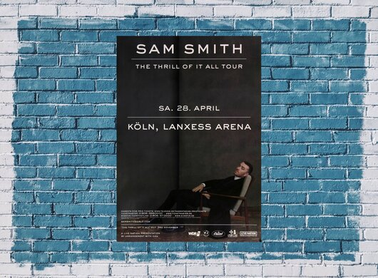 Sam Smith - The Thrill , Köln 2018 - Konzertplakat