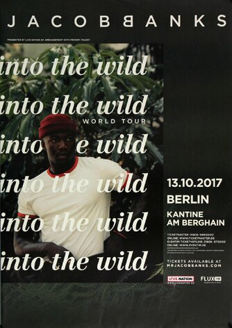 Jacob Banks - Into The Wild , Berlin 2017 - Konzertplakat