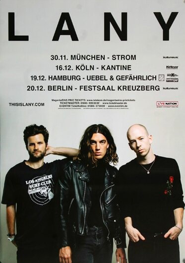 Lany - This Is Lany, Tour 2017 - Konzertplakat