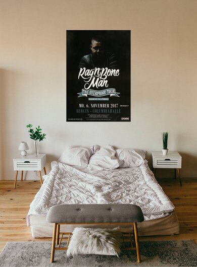 Rag´n Bone Man - The Overproof , Berlin 2017 - Konzertplakat