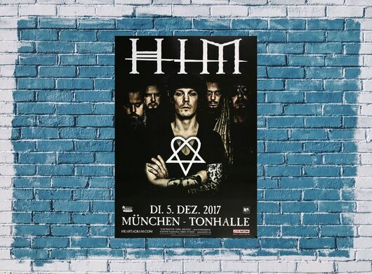 HIM - Tear On Tape , München 2017 - Konzertplakat