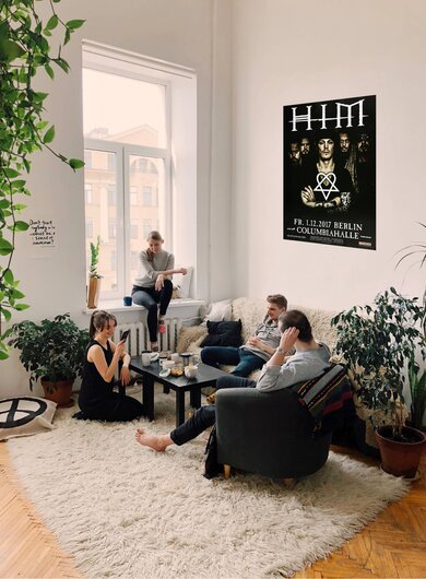 HIM - Tear On Tape , Berlin 2017 - Konzertplakat