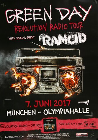 Green Day - Revolution Radio , München 2017 - Konzertplakat